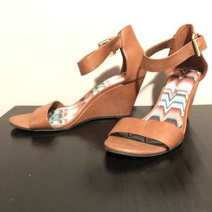 AE Cognac Wedge Heels
